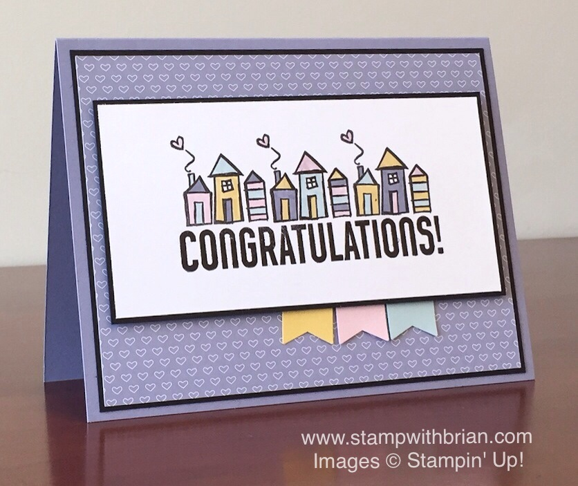 Welcome words for the april pals blog hop stamp with brian bravo welcome words stampin up brian king housewarming card m4hsunfo