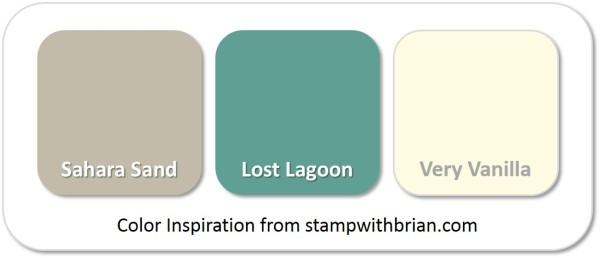 Stampin' Up! Color Inspiration: Sahara Sand, Lost Lagoon, Very Vanilla