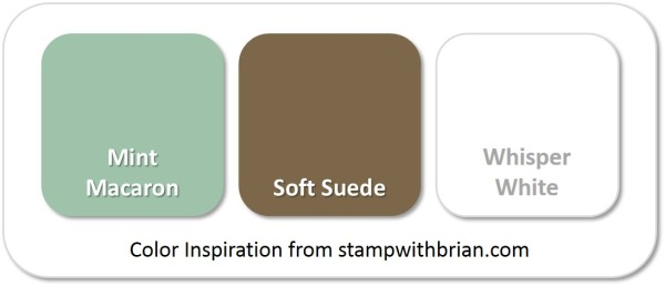 Stampin' Up! Color Inspiration: Mint Macaron, Soft Suede, Whisper White