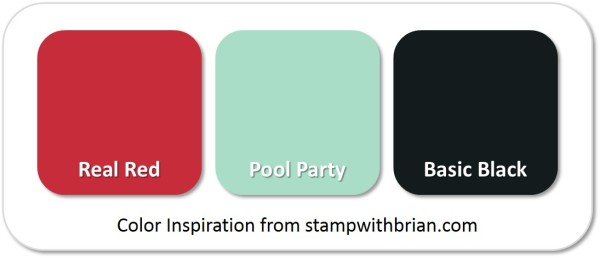 Stampin' Up! Color Inspiration: Real Red, Pool Party, Basic Black