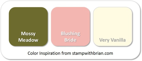 Stampin' Up! Color Inspiration: Mossy Meadow, Blushing Bride, Very Vanilla