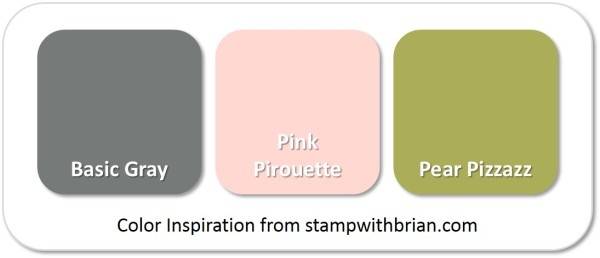 Stampin' Up! Color Inspiration: Basic Gray, Pink Pirouette, Pear Pizzazz
