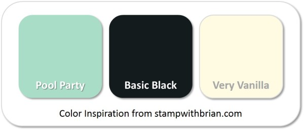 Stampin' Up! Color Inspiration: Pool Party, Basic Black, Very Vanilla