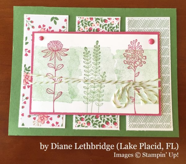 Diane Lethbridge, Lake Placid FL, Stampin' Up!, card swap