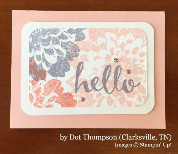 Dot Thompson, Clarksville TN, Stampin' Up!, card swap