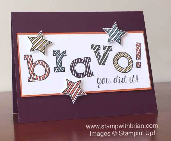Epic Alphabet, Bravo, Stampin' Up!, Brian King, 2014-2016 In Colors