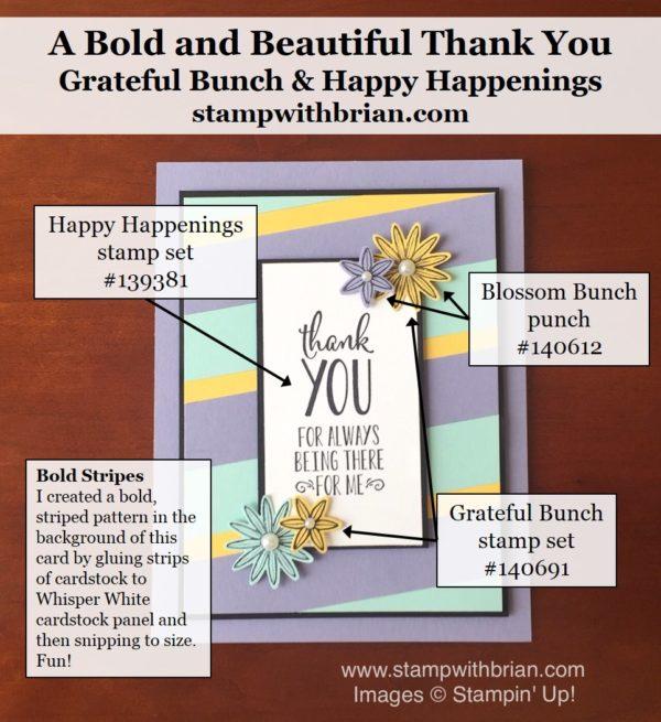 Grateful Bunch, Happy Happenings, Stampin' Up!, Brian King, PPA297