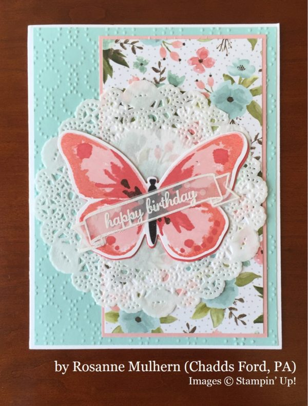 Rosanne Mulhern, Chadds Ford PA, Stampin' Up!, card swap