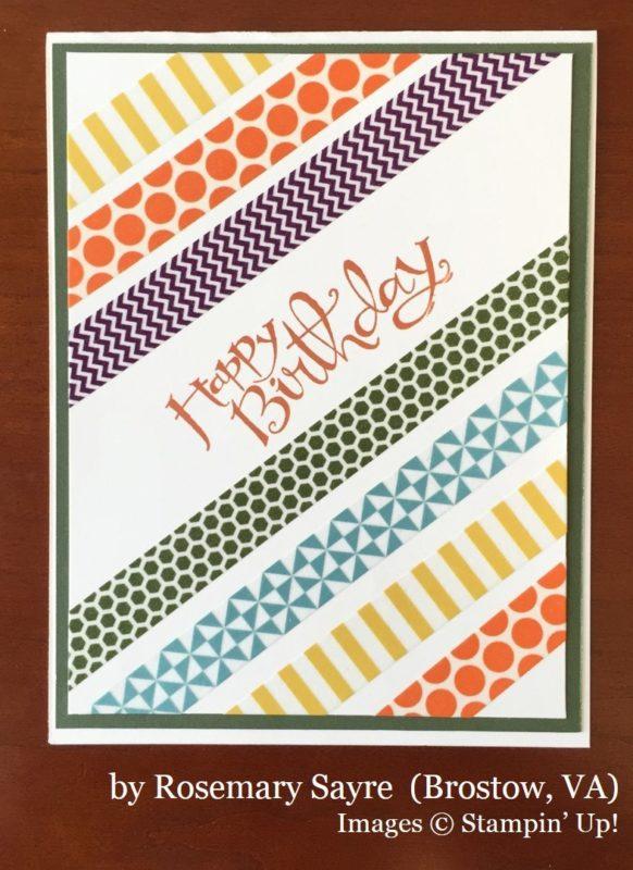 Rosemary Sayre, Bristow VA, Stampin' Up!, card swap