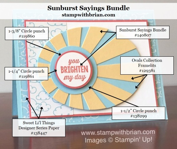 Sunburst Sayings, Sunburst Thinlits Dies, Stampin' Up!, Brian King, FabFri84