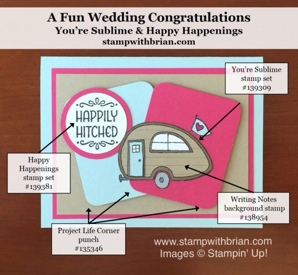 You're Sublime, Writing Notes, Happy Happenings, Stampin' Up!, Brian King, PPA298
