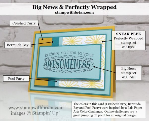 Big News, Perfectly Wrapped, Stampin' Up!, Brian King, PPA301