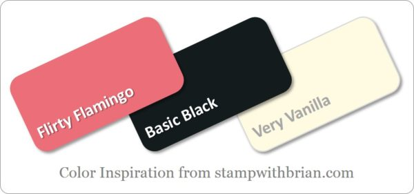 Stampin' Up! Color Inspiration: Flirty Flamingo, Basic Black, Very Vanilla