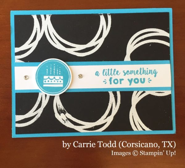 Carrie Todd, Corsicano TX, Stampin' Up!, card swap