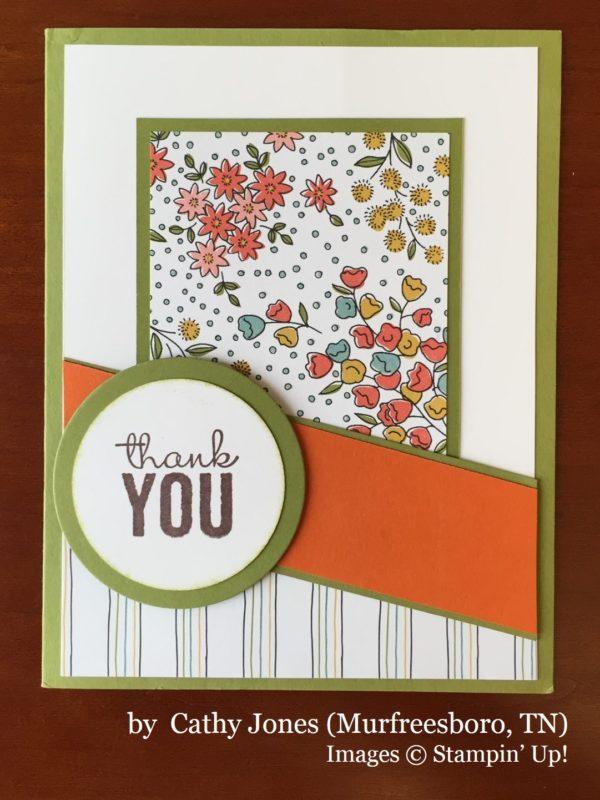 Cathy Jones, Murfreesboro TN, Stampin' Up!, card swap