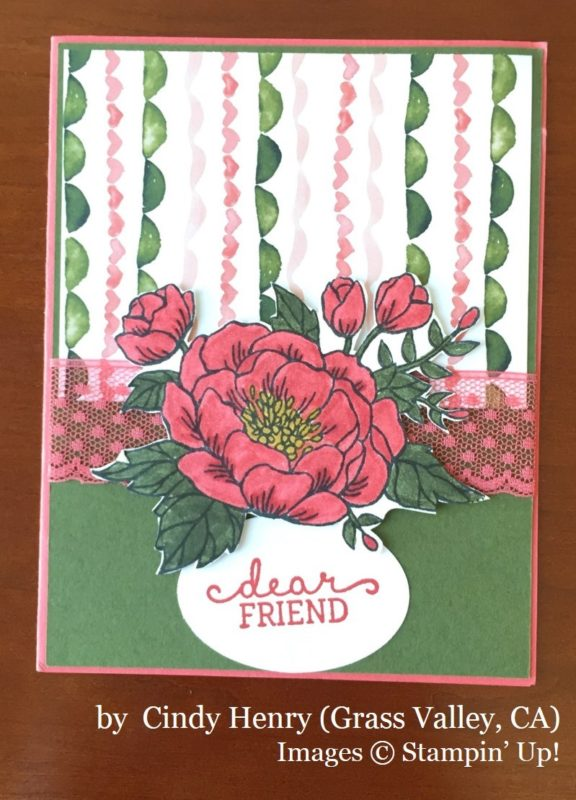 Cindy Henry, Grass Valley CA, Stampin' Up!, card swap