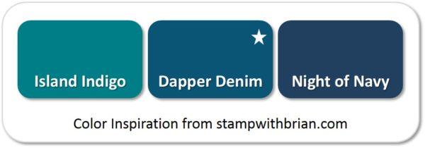 Dapper Denim - compared to Island Indigo and Night of Navy