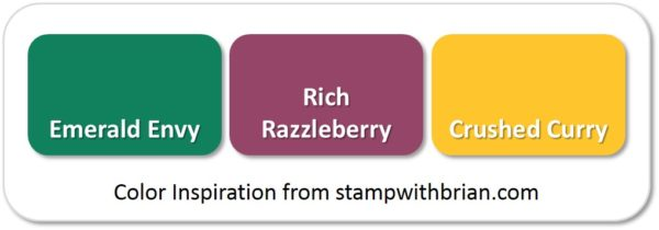 Emerald Envy, Rich Razzleberry, Crushed Curry