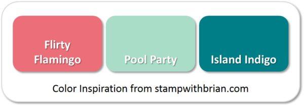 Flirty Flamingo, Pool Party, Island Indigo