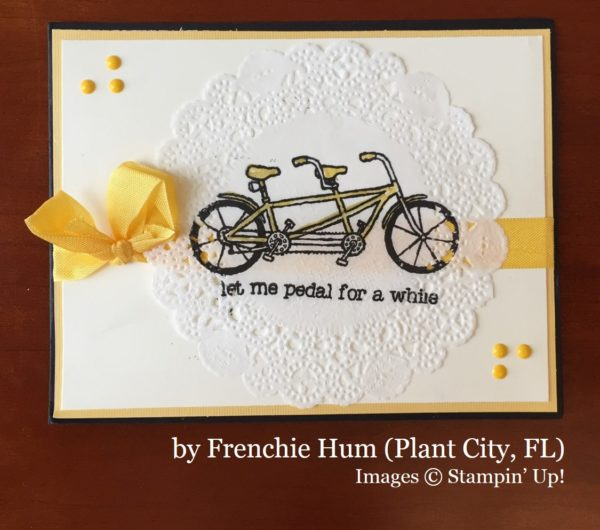 Frenchie Hum, Plant City FL, Stampin' Up!, card swap