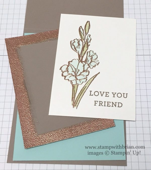 Gift of Love, Bloomin' Love, Stampin' Up!, Copper Embossing Powder, Stampin' Up!, Brian King, GDP036