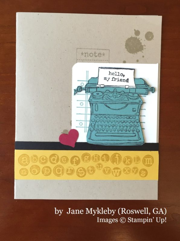 Jane Mykleby, Roswell GA, Stampin' Up!, card swap