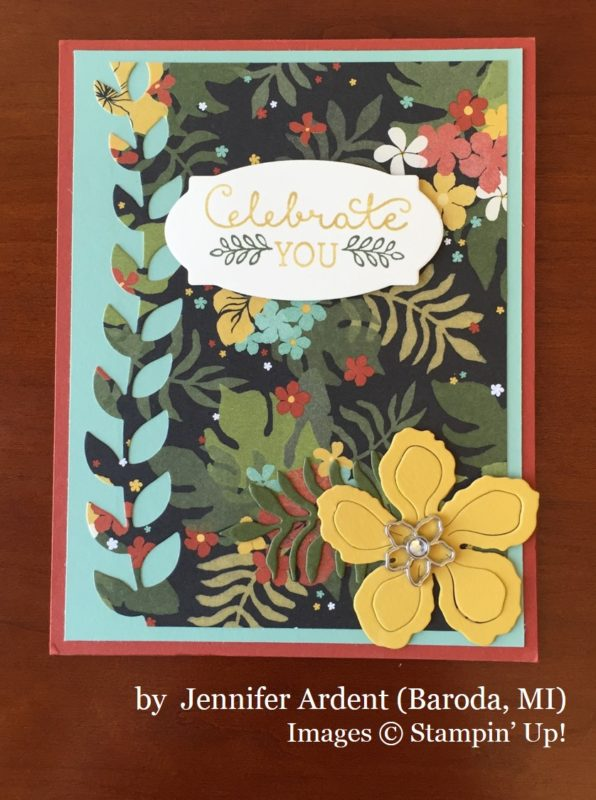 Jennifer Arent, Baroda MI, Stampin' Up!, card swap