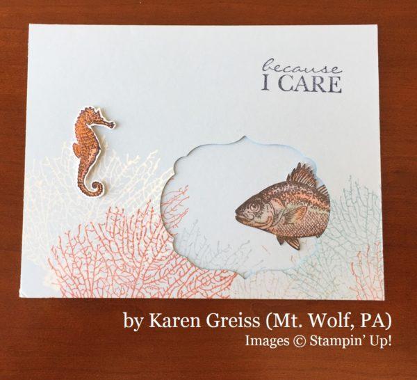 Karen Greiss, Mt Wolf PA, Stampin' Up!, card swap