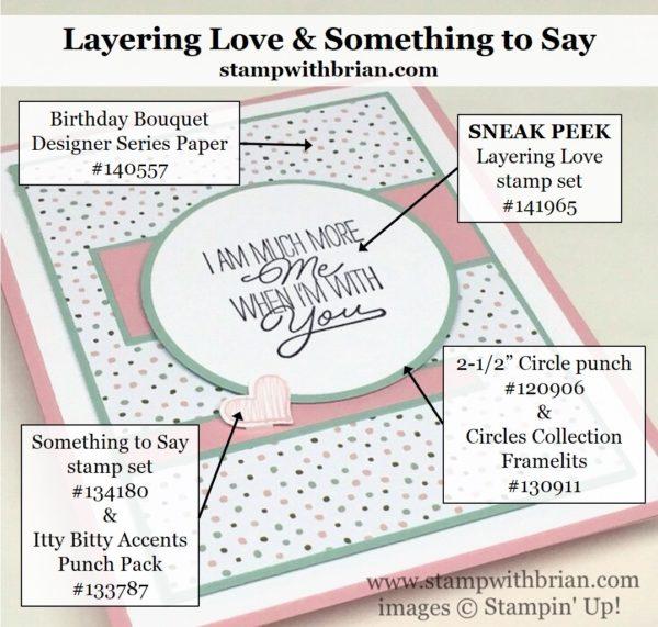 Layering Love, Something to Say, Stampin' Up!, Brian King, PPA302