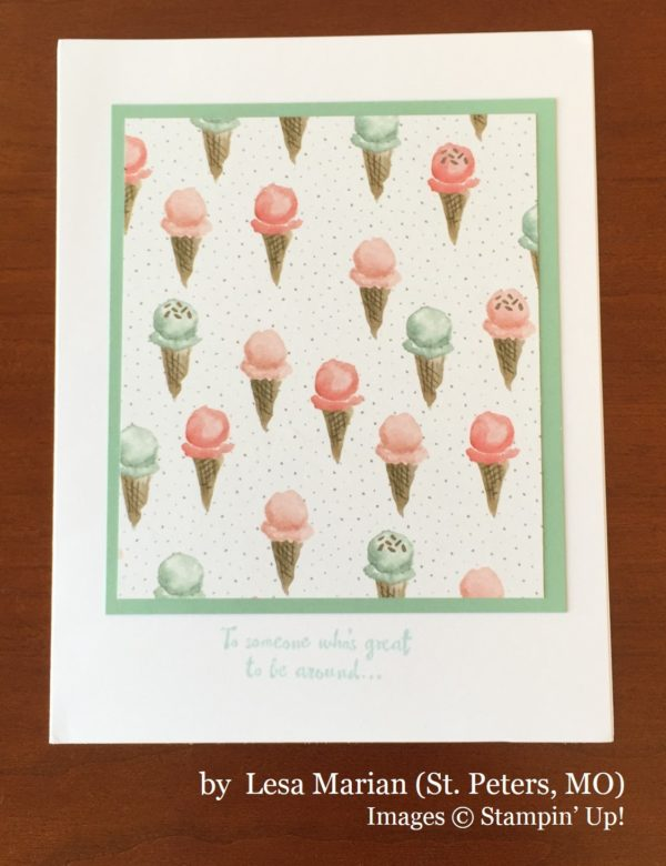 Lesa Marian, St Peters MO, Stampin' Up!, card swap
