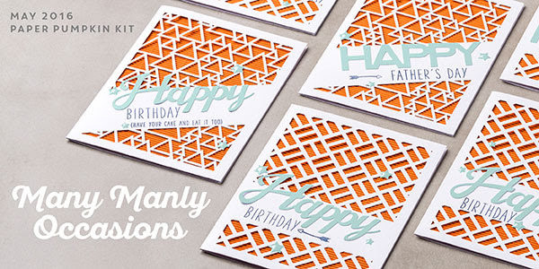 Many Manly Occasions Paper Pumpkin Kit, Stampin' Up!