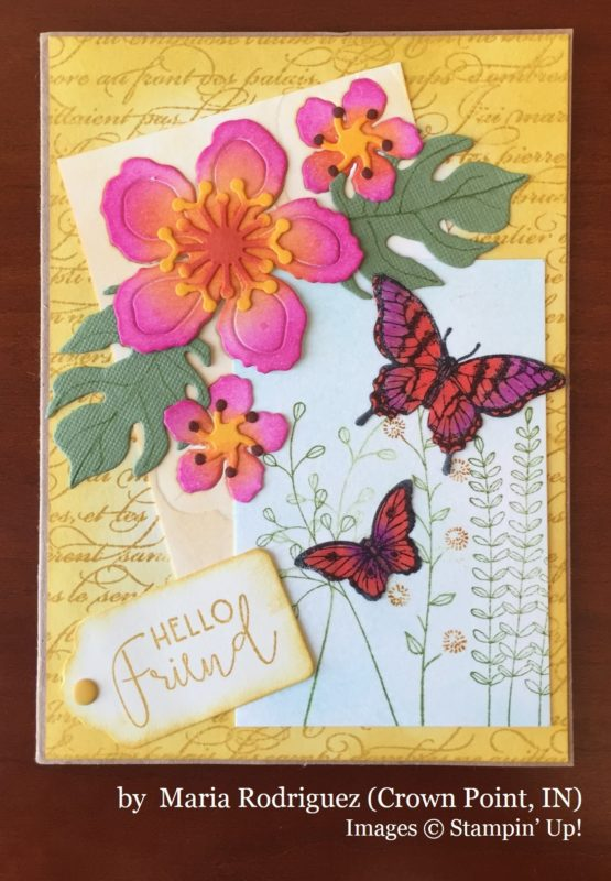 Maria Rodriguez, Crown Point IN, Stampin' Up!, card swap