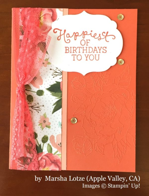 Marsha Lotze, Apple Valley CA, Stampin' Up!, card swap
