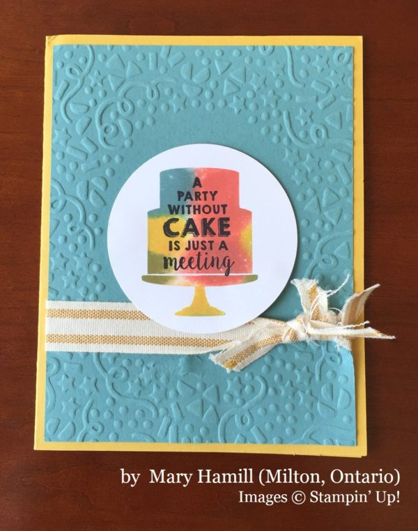 Mary Hamill, Milton Ontario, Stampin' Up!, card swap