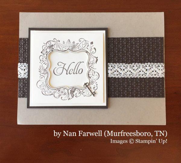 Nan Farwell, Murfreesboro TN, Stampin' Up!, card swap