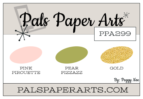 Stampin' Up! Color Inspiration: Pink Pirouette, Pear Pizzazz, Gold