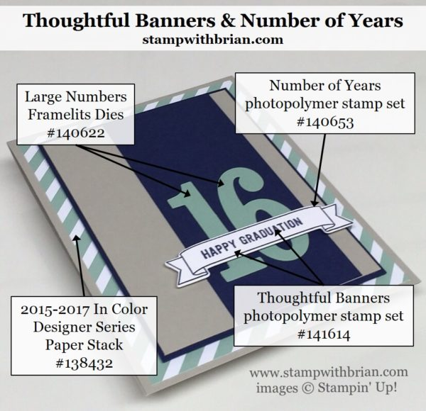 Thoughtful Banners, Number of Years, Stampin' Up!, Brian King, PPA303