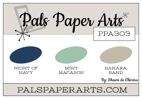 Stampin' Up! Color Inspiration: Night of Navy, Mint Macaron, Sahara Sand