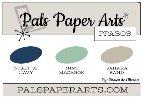 Stampin' Up! Color Inspiration: Night of Navy, Mint Macaron, Sahara Sand