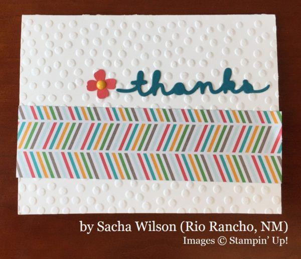 Sacha Wilson, Rio Rancho NM, Stampin' Up!, card swap