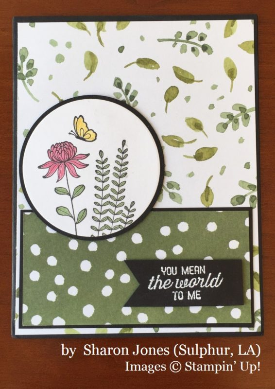 Sharon Jones, Sulphur LA, Stampin' Up!, card swap
