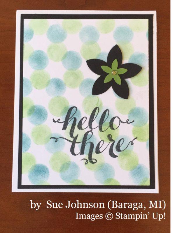 Sue Johnson, Baraga MI, Stampin' Up!, card swap