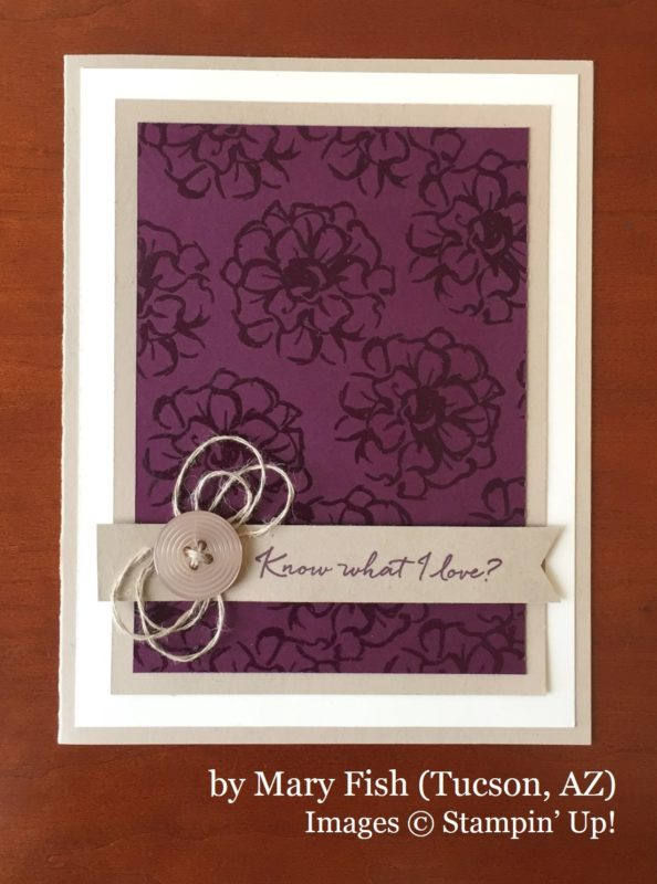 Mary Fish, Tucson AZ, Stampin' Up!, card swap