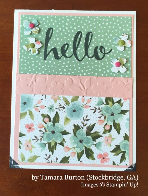 Tamara Burton, Stockbridge GA, Stampin' Up!, card swap