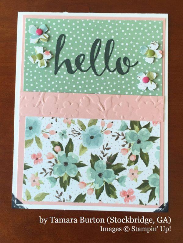 Tamara Burton, Stockbridge GA, Stampin' Up!, card swap