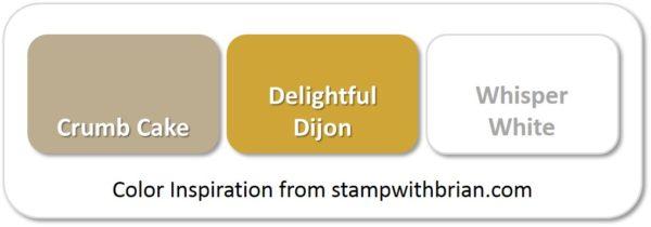 Stampin' Up! Color Inspiration: Crumb Cake, Delightful Dijon, Whisper White