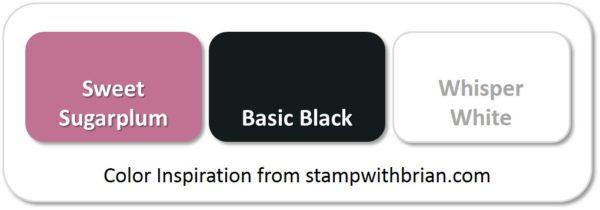 Stampin' Up! Color Inspiration: Sweet Sugarplum, Basic Black, Whisper White