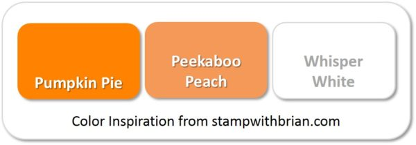 Stampin' Up! Color Inspiration: Pumpkin Pie, Peekaboo Peach, Whisper White
