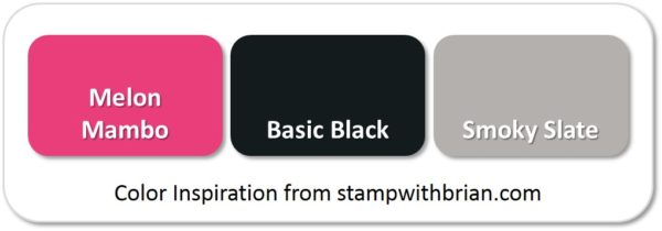 Stampin' Up! Color Inspiration: Melon Mambo, Basic Black, Smoky Slate