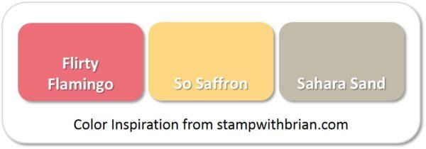 Stampin' Up! Color Inspiration: Flirty Flamingo, So Saffron, Sahara Sand